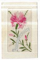 Carte Brodée Fleur Anniversaire - Embroidered