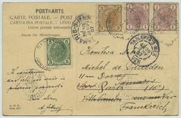 Affranchissement 3 Couleurs / CP 1907 De Radmannsdorf (Radovljica Slovénie Slovenja) Pour Paris Et Tamaris-sur-Mer. - Storia Postale