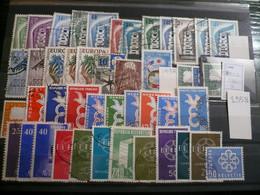 Europa-CEPT Ca 800 Francobolli, Raccolta Selezionata Usata  Quasi Completa Dal 1956 Al 1990 - Collections (without Album)