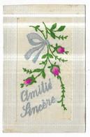 Carte Brodée Amitié Sincère - Embroidered