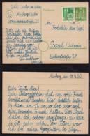 BRD Bund 1950 Postkarte Ganzsache Uprated MARBURG Nach BASEL Schweiz - Cartas