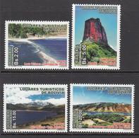 2016 Bolivia Tourism Scenery Beaches Complete Set Of  4 MNH - Bolivia