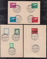 BRD Bund 1955 Sonderstempel Regensburg Kartellverband Studentenvereine Auf 3 Karten Atraktiv - Cartas