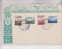 CROATIA WW II, Wings1942  Cover With WILHELM BUSCH EXPO Cancel - Croatia