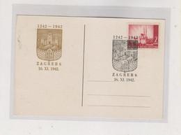 CROATIA WW II, Zagreb 1942 Postcard - Croatia