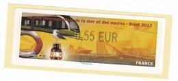 ATM LISA France Vignette Affranchissement Fete De La Mer Brest 2012 Tramway 0,55€ - 2010-... Viñetas De Franqueo Illustradas