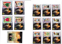 Francobolli Ajman 1971 N13 Minifogli Non Dent. Serie Scouts Michel 45€ - Ajman