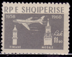 Albania, 1960, Jet Airline Tirana - Moscow, 11.50L, MLH - Albania