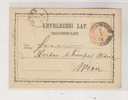 CROATIA.HUNGARY 1874 ESZEK OSIJEK  Postal Stationery To WIEN AUSTRIA - Croatia