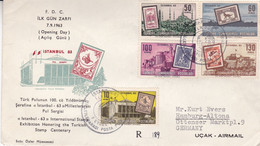 TURKIYE. ISTANBUL 63, INTERNATIONAL STAMP EXHIBITION HONORING THE TURKISH STAMP CENTENARY. 1963, FDC ENVELOPPE. .- LILHU - Philatelic Exhibitions