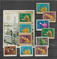 Olympische Spelen 1972 , Bhutan  - Zegels + Blok Postfris - Ete 1972: Munich