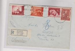 CROATIA WW II, OROSLAVJE1944 Registered Cover To Zagreb - Croatia