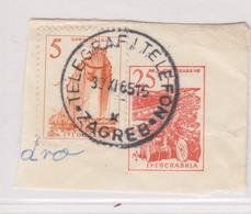 YUGOSLAVIA, Better Postmark TELEGRAPH AND PHONE //  TELEGRAF I TELEFON ZAGREB 1965 Croatia Cancel Hrvatska A - Croatia
