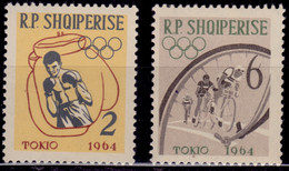 Albania, 1964, Olympics Games-Tokyo, Boxing/Cycling ,  2/6L, Sc#666, 669, MLH - Albania
