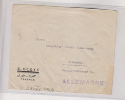 IRAN TEHERAN 1940 Censored Cover To Germany - Iran