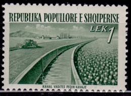 Albania, 1953 , Rebuilding Infrastructure, 1L, Sc#492, MLH - Albania