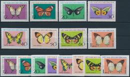 ** 1976 Pillangók Fogazott és Vágott Sor Mi 833-840 - Unclassified