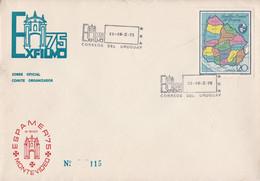 URUGUAY. ESPAMER '75, MONTEVIDEO. 1975 FDC ENVELOPPE GRAN FORMAT.- LILHU - Philatelic Exhibitions