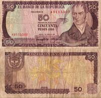Colombia / 50 Pesos / 1986 / P-425(b) / VF - Colombia