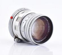 Leitz Wetzlar Leica Summicron 50 Mm F/2 Objektív, Eredeti Sapkával, Nikon Műbőr Tokban - Macchine Fotografiche