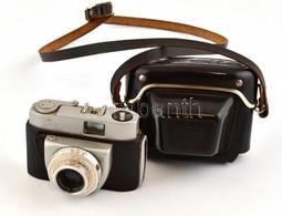 Beier Beirette Fényképezőgép Meritar 1:2,9/45 Mm Objektívvel, Eredeti Tokjában, Akadó Zárszerkezettel - Macchine Fotografiche