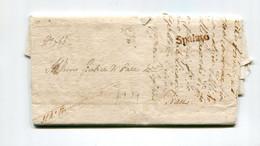 !!! DALMATIE, MARQUE POSTALE DE SPALATO SUR LETTRE DE 1807 AVEC TEXTE - Croatia