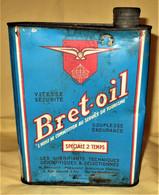 BRET-OIL - BIDON D' HUILE De 2 LITRES ANCIEN - Cars