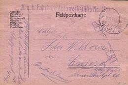 Feldpostkarte K.u.k. Fahrbare Autowerkstätte Nr. 42 - Nach Zwiesel -  1918 (56142) - Cartas