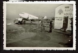 Photo 9 X 6 Cm - C1950 - Aéroport D'Haïfa - Agence Générale SOBELAIR - Avion - Double Exposition - Voir Scan - Luoghi