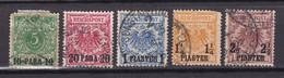 Deutsche Post In Der Türkei - 1889 - Michel Nr. 6/10 - Gestempelt - 60 Euro - Offices: Turkish Empire