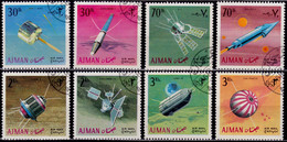Ajman, 1968, Airmail, Satellites, Used - Ajman
