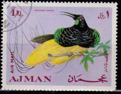 Ajman, 1969, Airmail, Bird Of Paradise, 1R, Used - Ajman