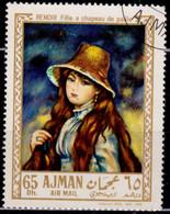 Ajman, 1967, Airmail, European Painting, 65Dh, Used - Ajman