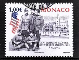 MONACO 2019 - Y.T. N° 3180 / CENTENAIRE DE L'ACCUEIL À MONACO DE TROUPES AMÉRICAINES -OBLITERE - Used Stamps