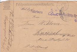 Feldpostkarte - K.u.k. Fahrbare Autowerkstätte Nr. 42 - Provisor. Stempel - Nach Zwiesel - 1917 (56153) - Cartas
