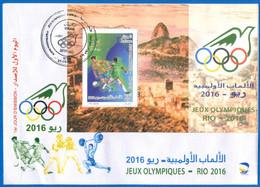 Algérie 2016 FDC BF25 Jeux Olympiques De Rio 2016 Brésil - Argelia (1962-...)