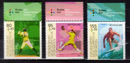 2021 Germany Für Den Sport New Olympic Disciplines Baseball, Softball, Windsurfing MNH** MiNr. 3602 - 3604 - Honkbal
