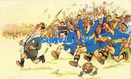 160453 ARGENTINA ART ARTE HUMOR SOCCER FUTBOL THE PLAYERS 'RUN POSTAL POSTCARD - Argentine