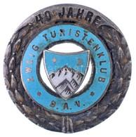 """Németország DN """"Német Alpesi Egyesület - Zweig Túraklub - 40 év"""" Zománcozott és Jelzett Ag Jelvény (7,05g/0.800/26mm) T: - Unclassified"""