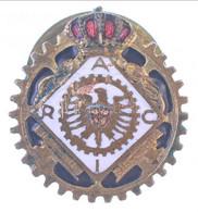 "Olaszország ~1920-1940. ""RIAC (Reale Automobile Club D'Italia)"" Zománcozott Gomblyukjelvény, ""AE LORIOLI FRATELLI SA"" Gy - Unclassified"