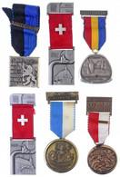 6xklf Svájci és Osztrák Díjérem Szalagon T:1-2 6xdiff Swiss And Austrian Medals On Ribbon C:UNC-XF - Unclassified