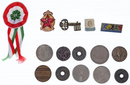 """15db-os Vegyes érme, Jelvény és Zseton Tétel, Közte Svédország 1946. 1Kr Ag """"V. Gusztáv"""" T:2-3 15pcs Mixed Coin, Badge A - Unclassified"""