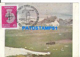 160459 ARGENTINA ANTARTIDA ANTARCTICA PUERTO PARAISO TRANSPORTE A.R.A BAHIA AGUIRRE  POSTAL POSTCARD - Argentine