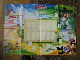 Poster Calendrier Mickey 1986 Publicitaire Jacky  Format 60 X 60 TBE - Agende & Calendari
