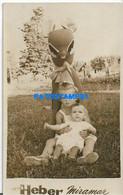 160468 ARGENTINA MIRAMAR COSTUMES CHILDREN WITH BAMBI YEAR 1960 PHOTO NO POSTAL POSTCARD - Argentine