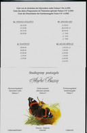 Papillons Buzin ; Listes Des Dates D'impressions De Chaque Timbres  1993 - 1985-.. Birds (Buzin)
