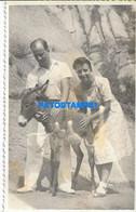 160470 ARGENTINA COSTUMES COUPLE AND DONKEY PHOTO NO POSTAL POSTCARD - Argentine