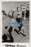 160475 ARGENTINA MIRAMAR COSTUMES BOY WITH BAMBI TOY YEAR 1958 PHOTO NO POSTAL POSTCARD - Argentine