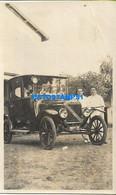 160478 ARGENTINA AUTOMOBILE OLD CAR AUTO AND MAN'S PHOTO NO POSTAL POSTCARD - Argentine