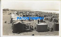 160485 ARGENTINA MIRAMAR BEACH PLAYA PHOTO NO POSTAL POSTCARD - Argentine